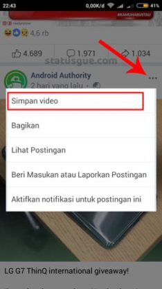 Cara download video facebook watch